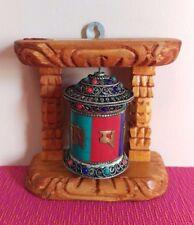Tibetan Buddhist Handcrafted Spinning Prayer Wheel for Wall Hanging ~ Nepal