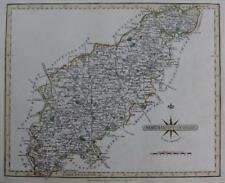 NORTHAMPTONSHIRE NORTHAMPTON   BY JOHN CARY GENUINE ANTIQUE MAP  c1793