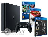 PS4 Slim 500Gb + 5 Juegos - The Last of us + God of war 3 + Uncharted Collection