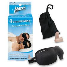 Macks MACK'S #2034 Travel Trips Naps Earplugs Contoured DREAMWEAVER SLEEP MASK