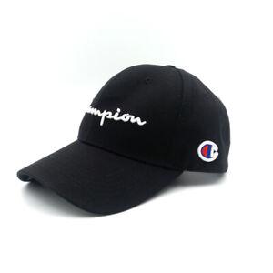 Champion Snapback Sport Baseball Cap Outdoor Embroidery Hip Hop Hat Black New