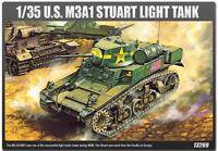 1/35 M3A1 STUART LIGHT TANK  #13269 Academy Hobby Model Kits