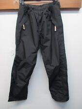 Women's REI Zipper Leg Ski Pants Cinch Waist Medium Black