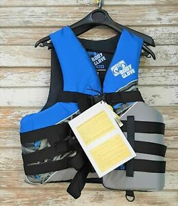 Body Glove Adult 2XL/3XL USCG Type III Life Jacket Nylon Ski Vest BLUE New wTags