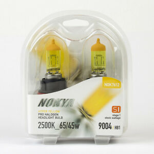 NOKYA Hyper Yellow Pro Halogen Headlight Bulbs - 9004 HB1 2500K 65/45W - NOK7612