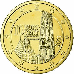 [#699479] Autriche, 10 Euro Cent, 2011, FDC, Laiton, KM:3139
