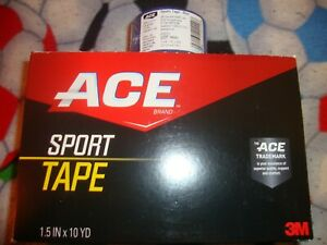 """Ace Sports Tape, 1.5""""  10 YD Roll, ( 3 PACK)  Blue"""