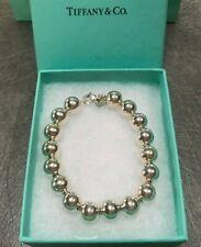 """Tiffany & Co. Sterling Silver 10 MM Bead Ball Bracelet 7.5"""""""