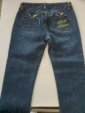 Youth Girls Apple Bottoms Jeans Embroidered Capri Size 10