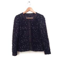 J. Crew Collection Jacket 6 Sequin Tweed Black Navy 99562 Career Confetti $595