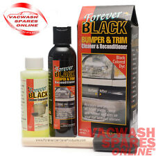 FOREVER BLACK BUMPER & TRIM DYE KIT- RE-COLOUR PLASTIC VINYL RUBBER- NO SILICONE