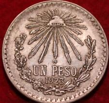 1923 Mexico 1 Peso Silver Foreign Coin