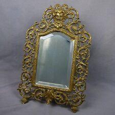 Antique Gold Ornate Mirror Game of Thrones Bacchus Northwind Figural Victorian
