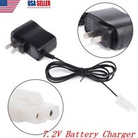 7.2V DC RC Car Ni-CD Ni-MH Battery Pack Rechargeable Wall Charger Adapter Plug