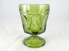 9 Anchor Hocking Fairfield Rocks Glass Goblets, avocado green, goblet