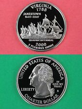 2000 S Virginia Proof State Quarter Mirror Surface Flat Rate Shipping