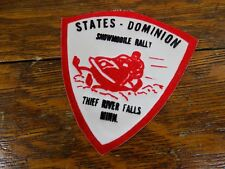Vintage States-Dominion Snowmobile Rally Patch Thief River Falls, MN Arctic Cat