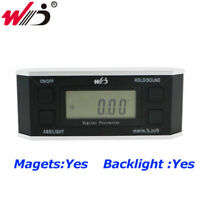 Digital Protractor Inclinometer With Magnet illuminate Angle Meter Cube Gauge