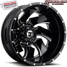 """Fuel D239 Cleaver 2-pc (Rear) Dually 22""""x8.25 Black Milled Wheel (ONE Rim)"""