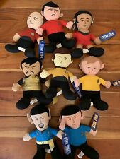 Star Trek Plush Lot Picard Kirk Spock Scotty Uhura Data