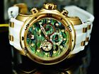 Invicta Mens 48mm Scuba Pro Diver Abalone Dial 18K Gold IP Stainless Steel Watch