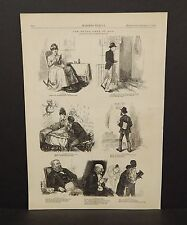 Harper's Weekly 1Pg The Seven Ages of Man  1873 B7#81