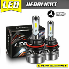 LED Headlight Kit 9004 HID White Hi/Low 60W Bulb for ACURA Integra 1990-1993 DTC