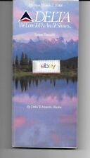DELTA AIRLINES SYSTEM TIMETABLE 3-2-88 408 PAGES-ROUTE MAPS-AD'S-ALASKA COVER