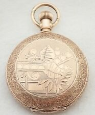 Filled Hunter Pocket Watch Beautiful Antique 6S Waltham Gold
