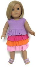 Doll Clothes for 18 inch American Girl - Jersey Knit Ruffled Dress
