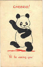 Panda Embossed Collectable Postcards