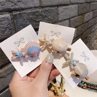 KQ_ KQ_ HD_ CO_ Sweet Starfish Shell Imitation Hair Clip Hairpin Snap Girl Beach