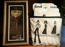 Kitchen Towel/Pocket/PotHolder&Wall Decor COSMO'S&GIRLFRIENDS!! Great Gift Idea