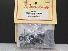 HO 1/87 Alloy Forms # 7003  - 20' Dump Trailer w/tongue  Kit