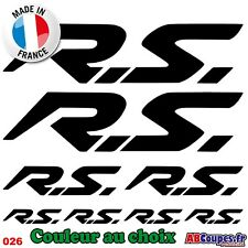 8 Stickers Autocollants RS 20, 10 et 5cm - Clio megane twingo cup 16s wind - 026