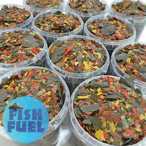 Premium Multi Flake Food 1 Litre Bucket - Fish Fuel Tropical, Goldfish, Cichlid