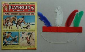 Playhour Pictures comic #1 (1954)+FREE GIFT Indian Head Dress VG/FN (phil-comics