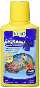 Tetra Easy Balance Plus 3.38 Oz Healthy Water Regulate PH Reduce Water Changes