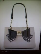 Betsey Johnson Taupe Bow - Accent Tote NEW with Tags Sold Out Online Brand NEW