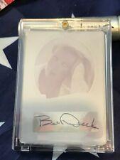 Bo Derek 2011 Autograph Auto Signed Card Leaf Pop Century Printing Plate 1/1