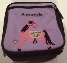 New AMANDA Horse Lunch Bag Box Tote Pottery Barn Kids Super Cute
