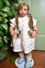 """Annette Himstedt """"Lonneke� Kinder Doll with Coa Paperwork 1998 - Signed Annette"""