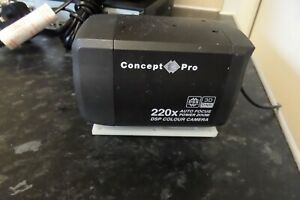 CONCEPT PRO VCP553 COLOUR 22x Zoom CCTV BOX CAMERA WITH LENS