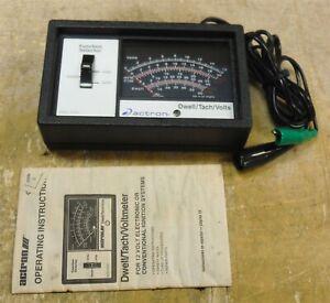 Vintage Actron CP7605 - Dwell Tachometer Voltmeter - Black *FREE SHIP bw4