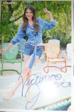 Victoria Justice Autogrammkarte Autogramm RS Justin Bieber zum Sammeln Sammlung