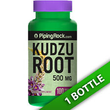 Kudzu Root 500 mg (Pueraria lobata) (root) by Piping Rock 100 Caps