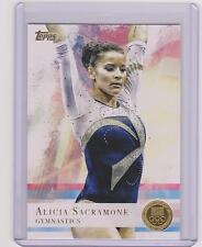 2012 TOPPS OLYMPIC ALICIA SACRAMONE GYMNASTICS GOLD CARD #11 ~ MULTIPLES