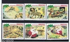 WALT DISNEY 6 FRANCOBOLLI DOMINICA CHRISTMAS 1981 nuovo