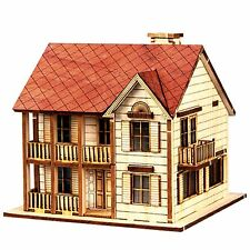 WOOD HOUSE MODEL KIT Western Style HO scales Wooden Miniature Series S1 Diorama