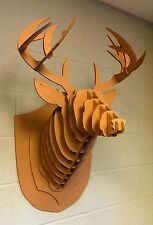 Taxidermy Full Size,cardboard,DEER HEAD,Antlers,Crafts,Decor,3D,Hunting,Puzzle